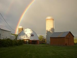 Double Rainbow Over Winery